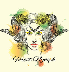 forest nymph anti stress color vector image