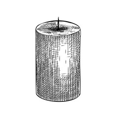 Hand-sketched aromatic candle drawing pa vector