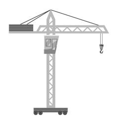 Hoisting crane icon gray monochrome style vector image