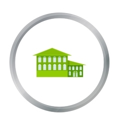 Hotel icon cartoon Single building icon from the vector image