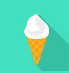 ice cream cone icon flat style vector image