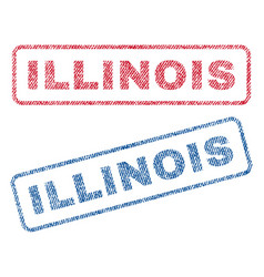 illinois textile stamps vector image
