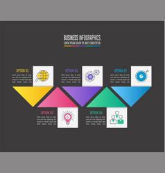 infographic design business concept with 5 options vector image