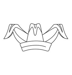 jester hat icon outline style vector image