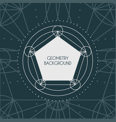magic geometry background vector image