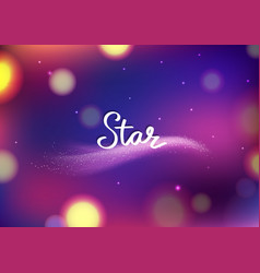 Magic stars fantasy blurry bokeh abstract vector