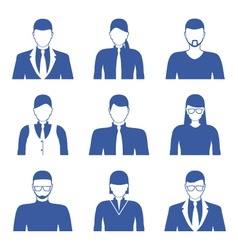 Male and female faces icons Business people avatar vector