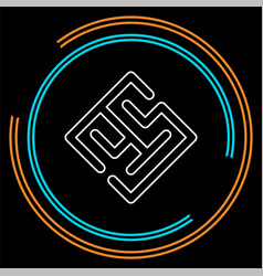 maze abstract - puzzle labyrint symbol vector image
