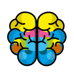 Mental health brain art vector