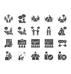 Mentor icon set vector
