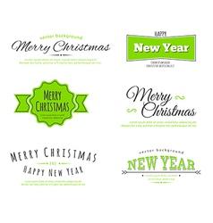 Merry Christmas type vector image