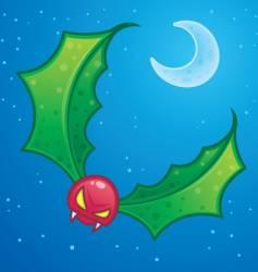 mistletoe goblin vector image