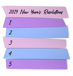 new year resolutions self improvement template vector image
