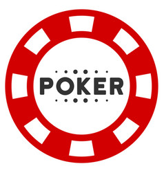 Poker casino chip flat icon vector