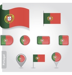 Portugal flag icon vector