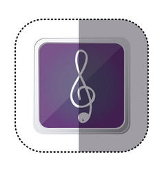 Purple symbol music sign icon vector