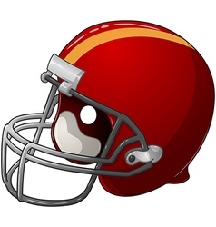 Red Football Helmet vector image