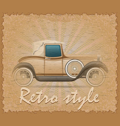 Retro style poster old car vector