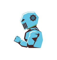 robot video game isolated icon vector image