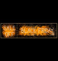 sale off black friday poster background grunge vector image