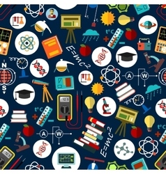 Seamless pattern of science education background vector