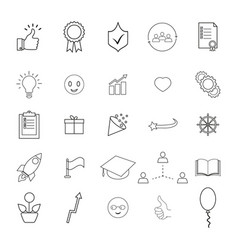 Set of bring up the better result icons vector