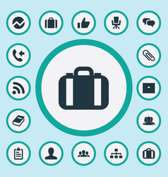 Set of simple career icons vector