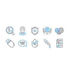 set science icons such as chemistry pipette vector image