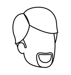 Sketch silhouette of man faceless with van dyke vector