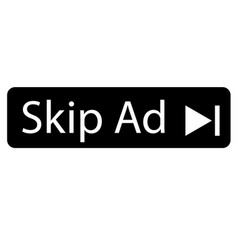 Skip ad advertisement icon on white background vector