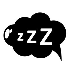 Snoring icon simple style vector
