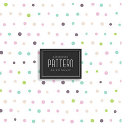 Soft color polka dots pattern background vector