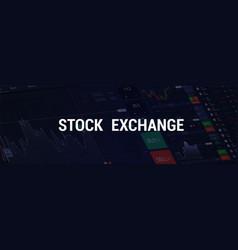 Stock exchange web banner vector