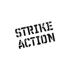 strike action rubber stamp vector image