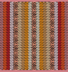striped greek seamless pattern vector image