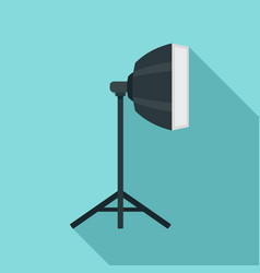 studio light stand icon flat style vector image