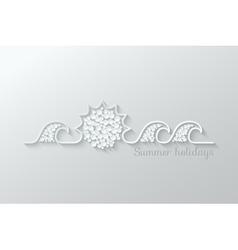 summer holidays paper cut design background vector image