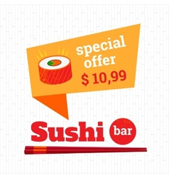 Sushi bar vector image