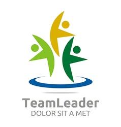 Teamleader guidance human abstract design vector