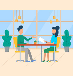 teamwork cooperation business workplace vector image