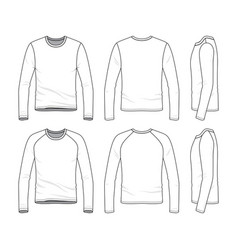 templates of blank tee vector image