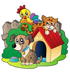 Three domestic animals vector