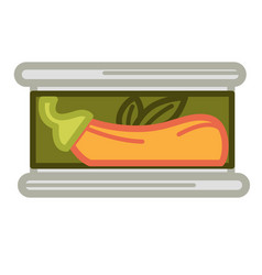 Tinned orange plant vector