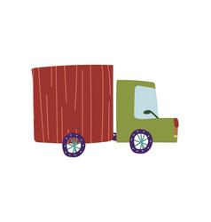 truck delivery cargo lorry cartoon vector image