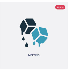 Two color melting icon from nature concept vector