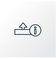 Upload icon line symbol premium quality isolated vector