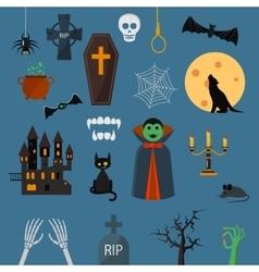 Vampire dracula symbols icons set vector