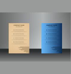 Vertical business cards print template personal vector