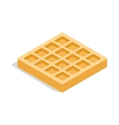 Waffles icon isometric 3d style vector