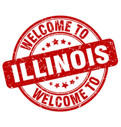 Welcome to illinois vector